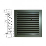 1900-A 12x12 Air Louvers - Bronze