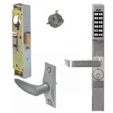 DL1200LPAK Alarm Lock narrow stile lock with Adams Rite lever & latch