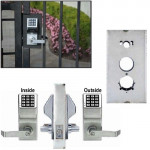 DL5200 x K-BXSIM Double Sided Keyless Gate Lock