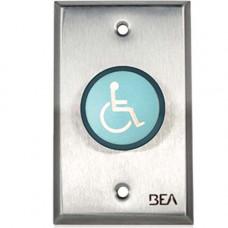 "10ACPBDA8 BEA pneumatic switch 1 5/8"" blue button, ""Handicap Logo"""