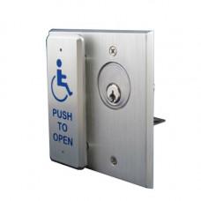 10COMBOPLATEMOM Momentary Contact Keyswitch & Push Plate Switch Combination