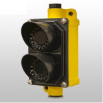 10LIGHTD-RG BEA EZ-LIGHT Indicator Flat Mount, Red & Green, Field Wired