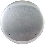 "10PBR10 BEA 6"" round stainless steel plate with plain face"