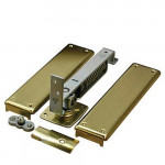 7813 Bommer Horizontal Spring Hinge, Adjustable w/Floor Plate