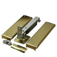 7813 Bommer Horizontal Spring Hinge, Adjustable w/Floor Plate