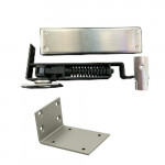 7814 Bommer Horizontal Spring Hinge, Adjustable w/Jamb Bracket