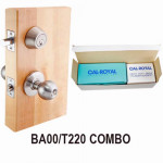 BA00-T220 Cal-Royal Knob Lock-Deadbolt Combo