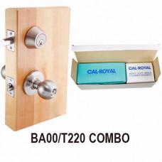 BA00-T220 Cal-Royal Knob Lock-Deadbolt Combo