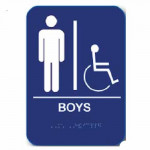 "BOYH68 Cal-Royal Restroom Sign, BOYS Handicap 6"" X 8"" ADA"