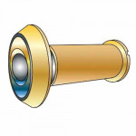 "DV180 Cal-Royal Brass Door Viewer 180°, 9/16"" Bore, 1 3/8"" to 2"" Doors"
