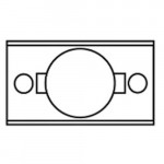 """LFA18 Cal-Royal latch front adapter 1"""" to 1-1/8"""""""