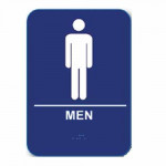 "M68 Cal-Royal Restroom Sign, MEN's 6"" X 8"" ADA Tactile & Braille"