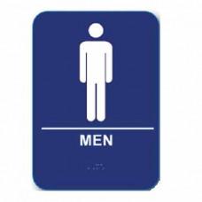 "M68 Cal-Royal Restroom Sign, MEN's 6"" X 8"" ADA Tactile & Braille"