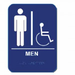 "MH68 Cal-Royal Restroom Sign, MEN's Handicap 6"" X 8"" ADA"
