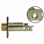 "SING238 gate latch, single cylinder deadbolt 2-⅜"" backset"