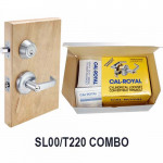 SL00-T220 Cal-Royal Lever Lock-Deadbolt Combo