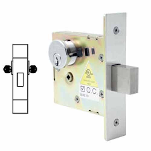 Cal Royal Deadbolt Small Lock Case Double Cylinder Heavy