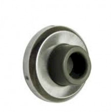 WB26 Cal-Royal Wall Stop, Concave Stainless Steel or Brass- 2 1/2""