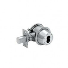 D241BD Falcon Cylinder Outside, Thumbturn Inside Grade 2 Deadbolt, SFIC Less Core