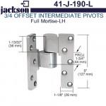 "41-J-190-L Jackson Full Mortise 3/4"" Offset Intermediate Pivot - LH"