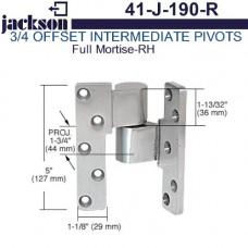"""41-J-190-R Jackson Full Mortise 3/4"""" Offset Intermediate Pivot - RH"""