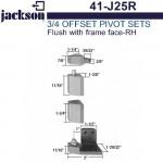 "41-J25R Jackson 3/4"" Offset Pivot Set - Flush w/ Frame Face - RH"