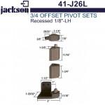 "41-J26L Jackson 3/4"" Offset Pivot Set - Recessed 1/8"" - LH"