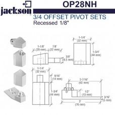 "OP28NH Jackson 3/4"" Offset Pivot Set - Recessed 1/8"""