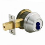 QDB281 Stanley Deadbolt, Single Cylinder, Grade 2 SFIC Less Core