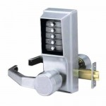 LL1011-26D-41 Kaba Mechanical Push Button Lock LH-LHR, Satin Chrome