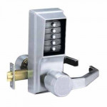 LR1011-26D-41 Kaba pushbutton cylindrical lever lock 26D satin chrome