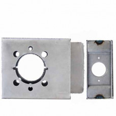 "K-BXRHO Keedex Weldable Box Cylindrical thru-bolt 4-3/4"" x 4-1/8"""