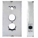 "K-BXSIM-AL Keedex Weldable Gate Box 5-1/2"" W x 10-1/4"" Alarm Lock/Kaba"