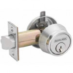 B250PD Schlage Single Cylinder Outside, Holdback Turn Inside Grade 2 Deadbolt - ANSI E2122