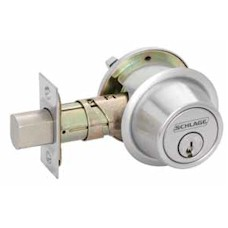 B560P Schlage Single Cylinder Outside, Turn Inside 6-Pin Grade 2 Deadbolt - ANSI E0152