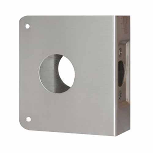 8-S-CW Don-Jo Wrap-Around Plate Door Reinforcer 4  sc 1 st  Buy Door Hardware Now & Don-Jo wrap-around plate door reinforcer for deadbolt with 1 1/2 ...