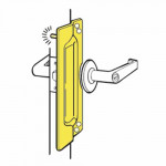 PLP-211 Don-Jo Latch Protector w/ Pin For Outswinging Doors