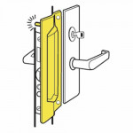 PMLP-211 Don-Jo Latch Protector w/ Pin For Outswinging Doors