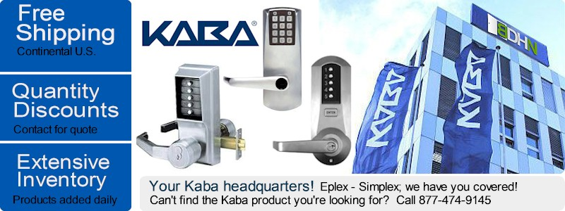 Kaba pushbutton locks