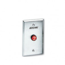 "701RD-EX Locknetics SPDT Momentary Red Pushbutton - Engraved ""PUSH TO EXIT"""