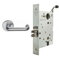 L9092EL/EU 03A Schlage Electrified Mortise Lock, Safe/Secure Outside Lever
