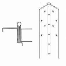 "FM100 Markar Full Mortise - 7' (83-1/8"") - Templated Hole Pattern Continuous Hinge"