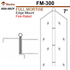 "FM300 Markar Full Mortise - 7' (83-1/8"") - Edge Mount Continuous Hinge"