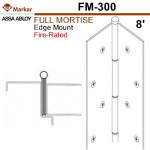 "FM300 Markar Full Mortise - 8' (95"") - Edge Mount Continuous Hinge"