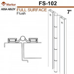 "FS102 Markar Full Surface - 7' (83-1/8"") - 1/8"" Flush Continuous Hinge"