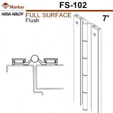 "FS102 Markar Full Surface - 7' (83-1/8"") - 1/8"" Flush Continuous Hinge"