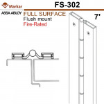"FS302 Markar Full Surface - 7' (83-1/8"") - Flush Mount Continuous Hinge"