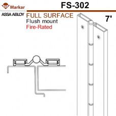 "FS302 Markar Full Surface - 7' (83-1/8"") - Flush Mount Continuous Hinge"
