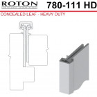 "780-111HD 83 Roton Concealed Leaf - Entry Door For 1/8"" Inset - Templated Continuous Geared Hinge"