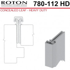 "780-112HD 83 Roton Concealed Leaf - Entry Door - 1-3/4"" Doors - Templated Continuous Geared Hinge"